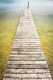 Old jetty. Nice old jetty at a lake near vienna Royalty Free Stock Image