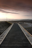 Old jetty. Jetty at sunset on the Morecambe Bay Royalty Free Stock Photography