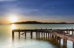 Free Old Jetty Between Sunrise Royalty Free Stock Photo - 35767665