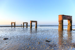 Old jetty at Eckvarderhörne Stock Images