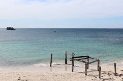 Old Jetty at Hamelin Bay West Australia Stock Photo
