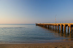 Old jetty at morning Royalty Free Stock Photos