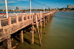 Old Jetty, Pattaya, Thailand. Royalty Free Stock Photos