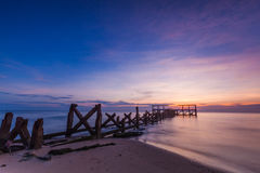 Old jetty pranburi Royalty Free Stock Photography