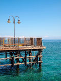 Old jetty in the sea Stock Photography