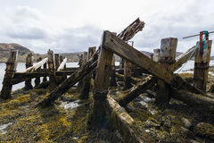 Old Jetty with Sea Royalty Free Stock Photography