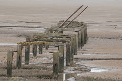 Old Jetty, Snetisham. Ruins of the old jetty, Snetisham Stock Photos
