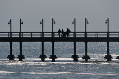 The old jetty in Swakopmund Namibia Royalty Free Stock Photo