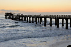 Old jetty in Swakopmund Namibia. Old historic German jetty in Swakopmund Namibia Stock Photography