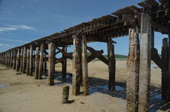Old Jetty in Thailand no.2. Old Jetty for fisherman use in Sattahip, Thailand Stock Photography