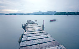 Old jetty walkway pier Royalty Free Stock Images