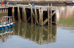Old jetty at Whitby harbour Yorkshire. Stock Images
