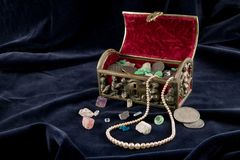 Old Jewel Chest Royalty Free Stock Photo