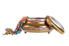 Old jewelry case Royalty Free Stock Photo