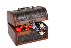 Old jewelry chest Royalty Free Stock Photos