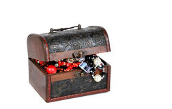 Old jewelry chest Royalty Free Stock Images