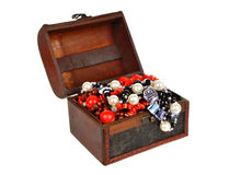Old jewelry chest Royalty Free Stock Photo