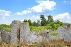 Old Jewish cementery in Berdychiv, Ukraine Royalty Free Stock Image