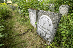 Old Jewish cementery. Jozefow, POLAND -August 11, 2012: Old Jewish cementery in Jozefow, Poland Royalty Free Stock Images