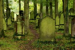 Jewish cemetary in Germany. Old jewish cemetary in Germany stock photo