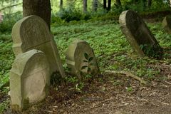 Old Jewish cemetery. In Poland Stock Photo