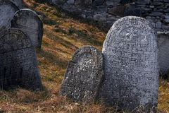 The old jewish cemetery. Czech republic Stock Image