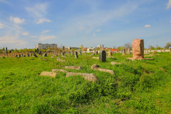 Old Jewish cemetery in Chernivtsy Stock Photo