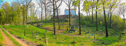 Old Jewish cemetery in Chernivtsy Stock Photos