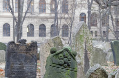 Old Jewish cemetery and a church, Prague Royalty Free Stock Photos