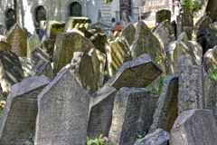 Old Jewish cemetery in Josefov, Prague, Czech Republic Royalty Free Stock Images