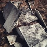 Old jewish cemetery. In Malaga, Spain stock photography