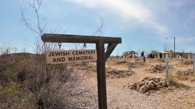 The old Jewish Cemetery and Memorial in Tombstone, Arizona