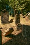 Old Jewish Cemetery. One of the most important Jewish historical monuments in Prague, Czech Republic Stock Photos