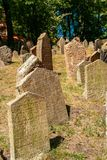 Old Jewish Cemetery. One of the most important Jewish historical monuments in Prague, Czech Republic Stock Photo