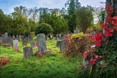 Old jewish cemetery. In Vienna stock photography