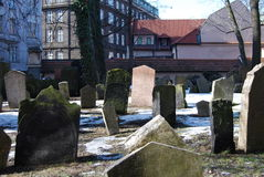 Old Jewish Cemetery, Prague. The Old Jewish Cemetery lies in the Josefov, the Jewish Quarter of Prague Stock Photo
