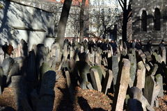 Old Jewish Cemetery in Prague Royalty Free Stock Images