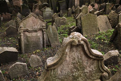 Old Jewish Cemetery in Prague, Czech Republic. Royalty Free Stock Photos