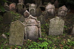 Old Jewish Cemetery in Prague, Czech Republic. Royalty Free Stock Images
