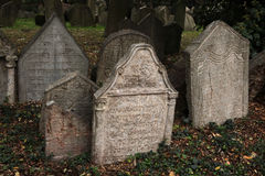 Old Jewish Cemetery in Prague, Czech Republic. Royalty Free Stock Photography