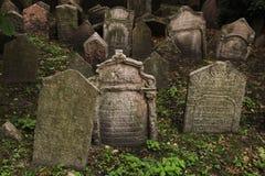 Old Jewish Cemetery in Prague, Czech Republic. Stock Photos