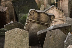 Old Jewish Cemetery in Prague, Czech Republic. Royalty Free Stock Image