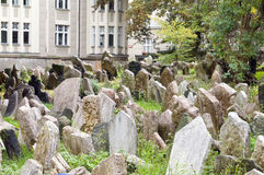 Old Jewish Cemetery Prague Czech Republic graves Stock Photography