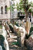 Old Jewish Cemetery. At Prague - Czech Republic - On 07/27/2015 - Old Jewish Cemetery, one of the most important Jewish historical monuments in Prague, Czech Stock Photos