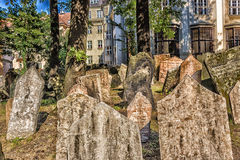 Old Jewish Cemetery in Prague Stock Images