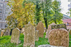 Old Jewish Cemetery in Prague Royalty Free Stock Photos