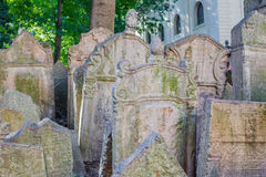 Old Jewish Cemetery in Prague Royalty Free Stock Photo