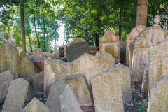 Old Jewish Cemetery in Prague Royalty Free Stock Image