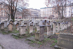 Old Jewish Cemetery, Remuh Synagogue, Krakow Royalty Free Stock Photos