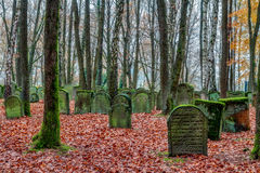 Old Jewish Graveyard in German Bavaria Stock Image